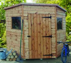 "6'8"" wide x 6'8"" deep deal Bewdley Corner shed"