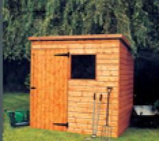 7' wide x 5' deep deal Bewdley Pent with door left of front.