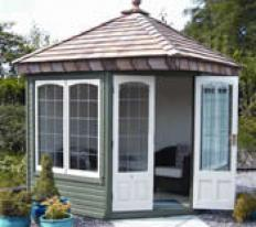 8' x 8' Clifton with square leaded windows and doors.