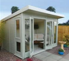 12' x 8' Hanley with pent roof.