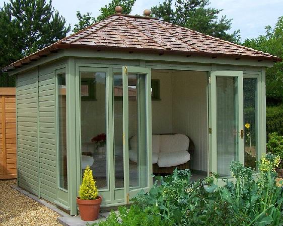 Malvern collection of garden offices garden rooms garden for Luxury garden office