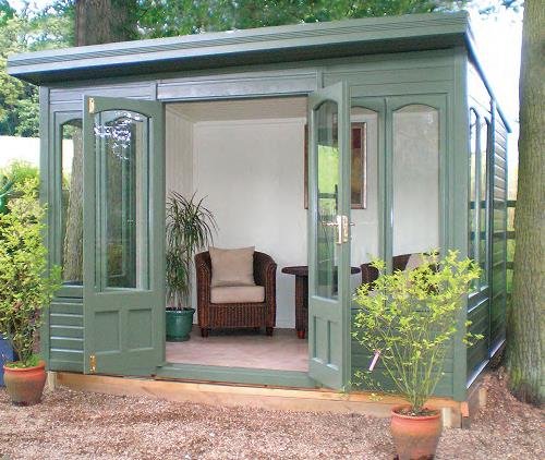 10' x 8' Stretton with plain windows and doors