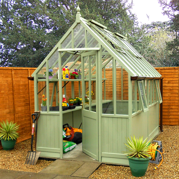 Malvern collection of garden offices garden rooms garden - Wooden staging for greenhouse ...